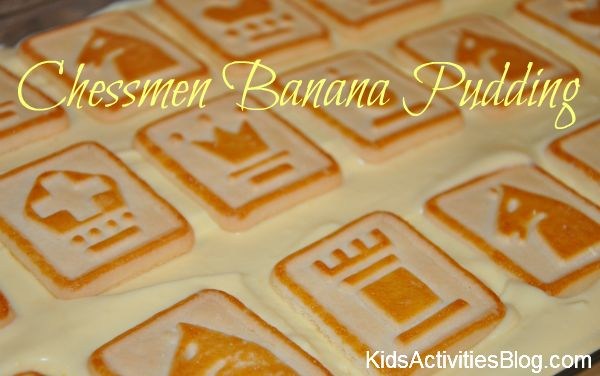 Chessmen Banana Pudding- my son can make! This is one of our favorite dessert to dollop with COOL WHIP.