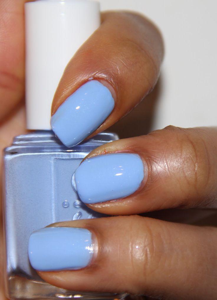 Essie Bikini So Teeny:A baby blue with tiny flecks of silver shimmer. Very pretty. NEW Real Techniques brushes makeup -$10 http://youtu.be/IO-9I8b6Su8 #bikini