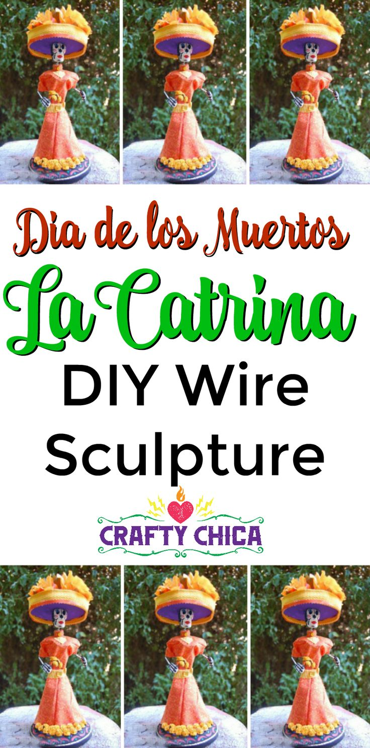 301 best day of the dead crafts inspiration images on pinterest day of the dead craft wire and clay sculpture by craftychica dailygadgetfo Choice Image