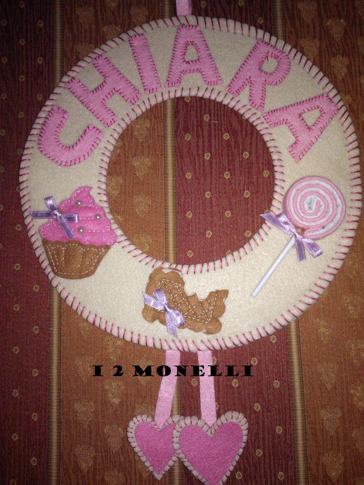 fiocco nascita feltro Sweet & Candy