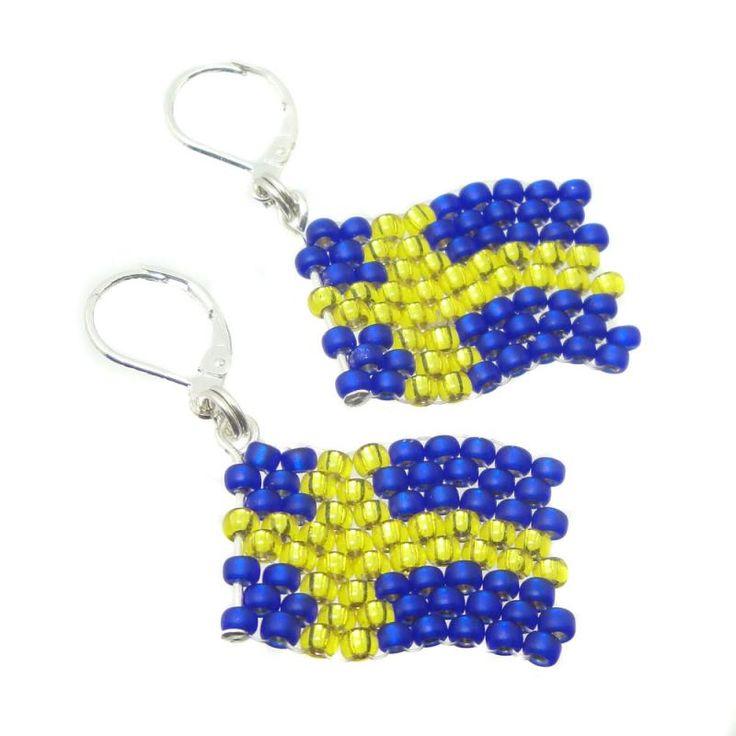 Ohrringe - Ohrhänger - Flagge Schweden - Fußball WM 2018 - Fanartikel