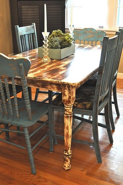 1000 images about distressed kitchen table on