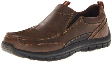 Skechers Men's Mazen Leone Slip-On,Brown,9 M US  #SkechersMen'sshoes #mensshoes #MenSkechers