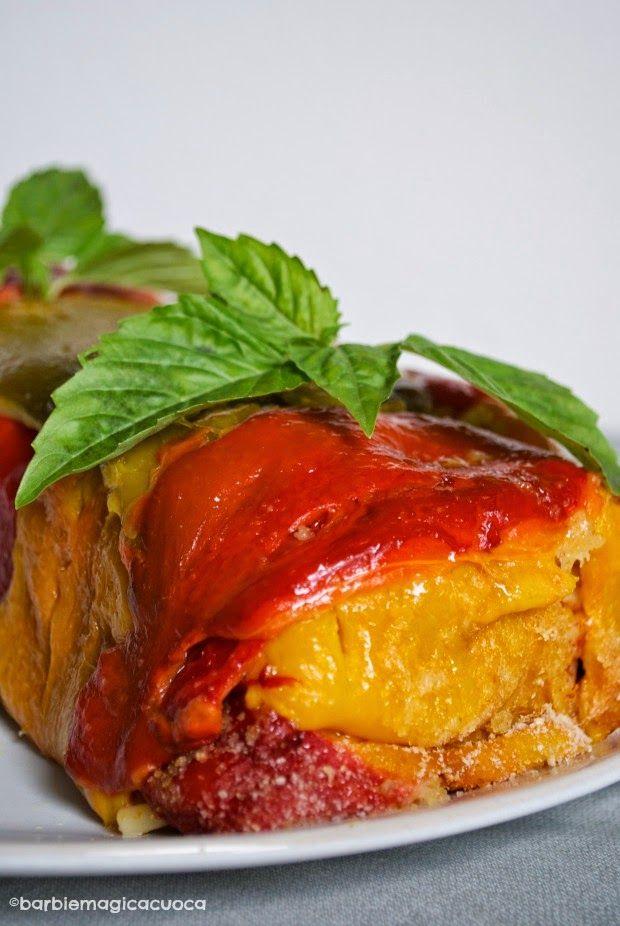 Barbie Magica Cuoca - blog di cucina: Timballo di peperoni e bucatini olive e capperi
