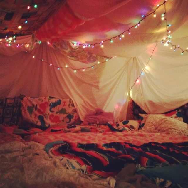 Amazing fort for a girly night in! <3