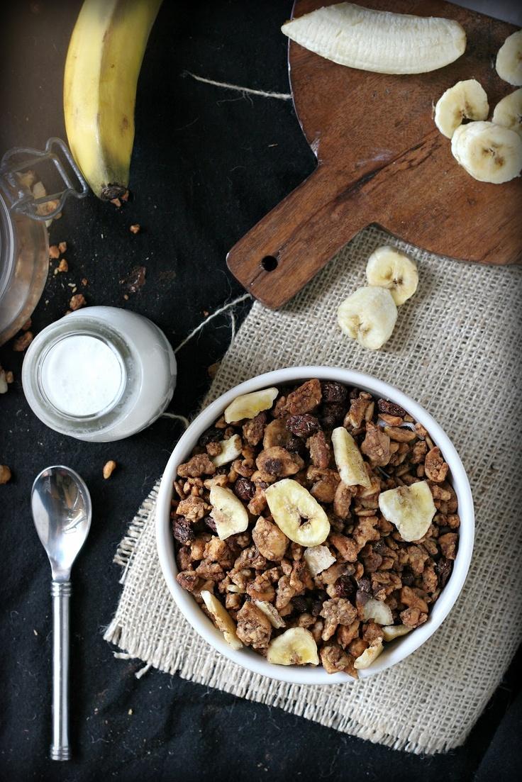 Banana Walnut Grain-Free Granola: Free Granola, Walnut Grains Fre, Grains Fre Granola, Gluten Dairy Free, Gluten Free Vegans, Grains Free, Granola Gluten Dairy, Paleo Recipe, Bananas Walnut