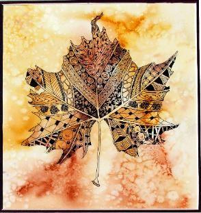 watercolor and zentangles (Suzanna Binnie)---inspiration