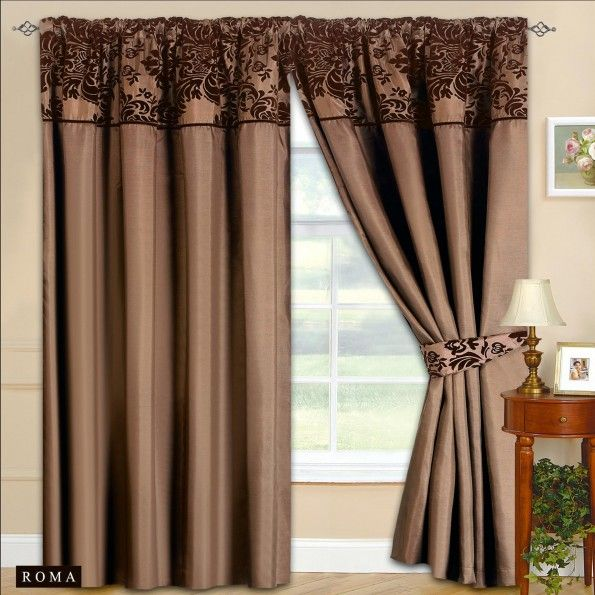 Curtains Ideas chocolate brown tab top curtains : Top 25 ideas about Brown Pencil Pleat Curtains on Pinterest   Teal ...