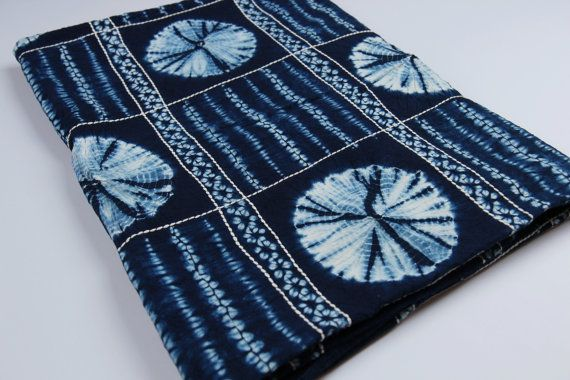 Natural Indigo Blue Shibori / Natural Hand dyed fabric+ Hand stitched Cotton Fabric / 100% Hand made / Wall decoration / Table runner