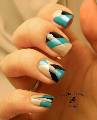 Océano Índico polacos: Nails Bloqueo de color con OPI Fly