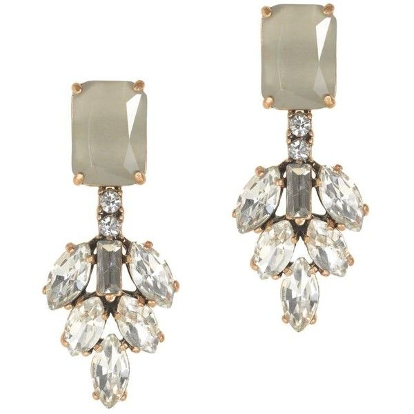 J.Crew Crystal leaves earrings ($50) found on Polyvore featuring jewelry, earrings, accessories, j crew jewelry, crystal jewelry, leaf jewelry, crystal earrings and j crew earrings