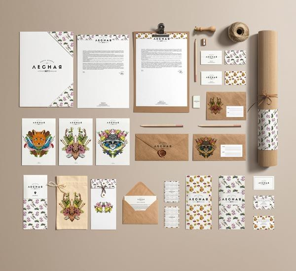 Forest Design Week - event identity design by Anastasia Kolesnikova