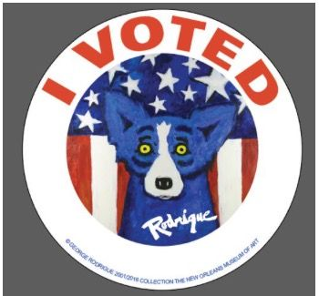 I love George Rodrigue's Blue Dog...Geaux Vote Louisiana