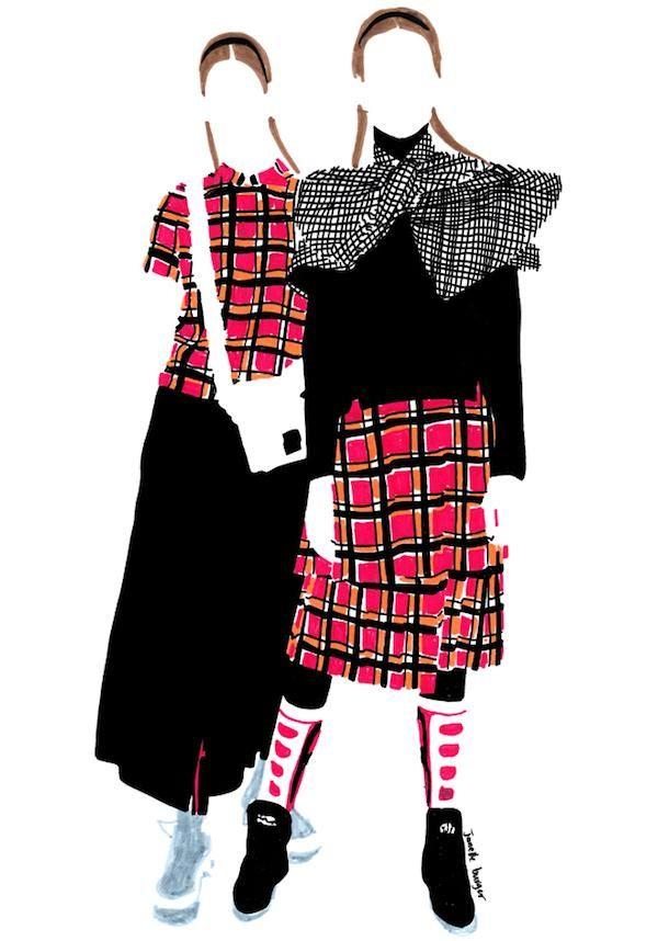 Marc by Marc Jacobs, F/W 2014; illustrated by Janelle Burger (http://janelleburgers.blogspot.fr) #artsyfartsy #fashionweek