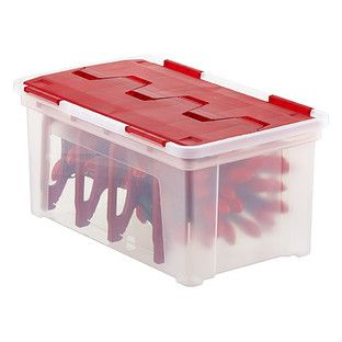 Plastic Christmas Tree Storage Box Prepossessing 90 Best Organized Holiday Images On Pinterest  Holiday Storage Review