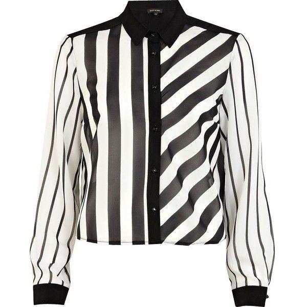 River island black and white shirt dress.