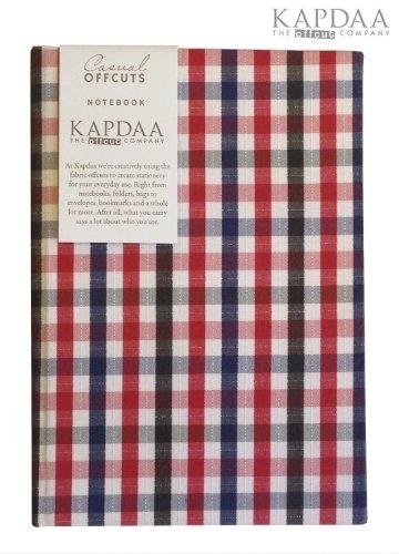 Luxury Designer Fabric Checked Notebook, Journals - Recycled/Handmade,£11.00