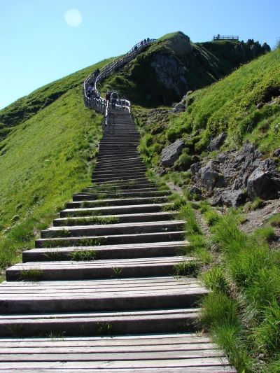 Les marches du Sancy - the steps going to Puy du Sancy! we went up through cable car but from this part onwards, we had to walk all the way to the top. so beautiful!