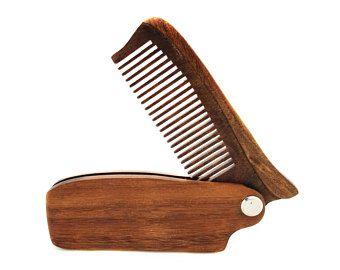 Cuchillo de bolsillo barba estilo peine con grabado de nombre personalizado opcional