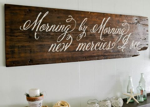 """""""Morning by Morning"""" Wood Sign...Great is Thy Faithfulness...my all time favorite."""