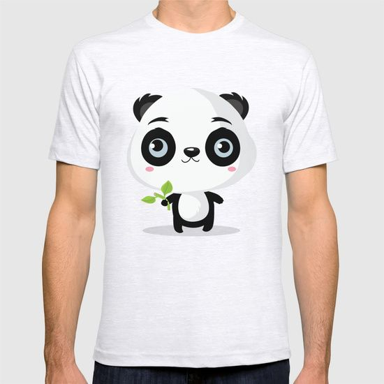 Panda T-shirt by Maria Jose Da Luz. Worldwide shipping available at Society6.com. Just one of millions of high quality products available.