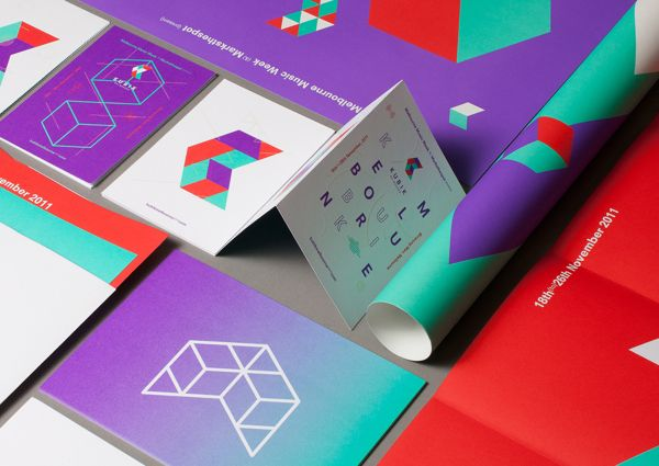 Kubik Melbourne Music Event Brand Identity Design  
