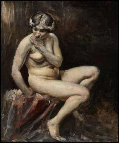 Augustus Edwin John - Study of a Nude (1905)