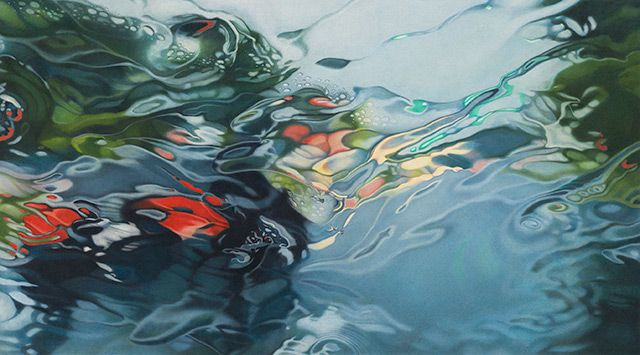 Rainscapes: Hyperrealistic Rainy Windshield Drawings by Elizabeth Patterson