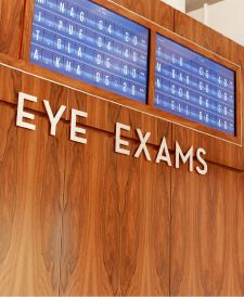 """LIVE"" Eye exam board in current time"