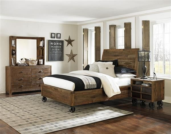 Best of Braxton Transitional Distressed Natural Wood Kids Bedroom Set Trending - Minimalist boys bedroom furniture sets Modern