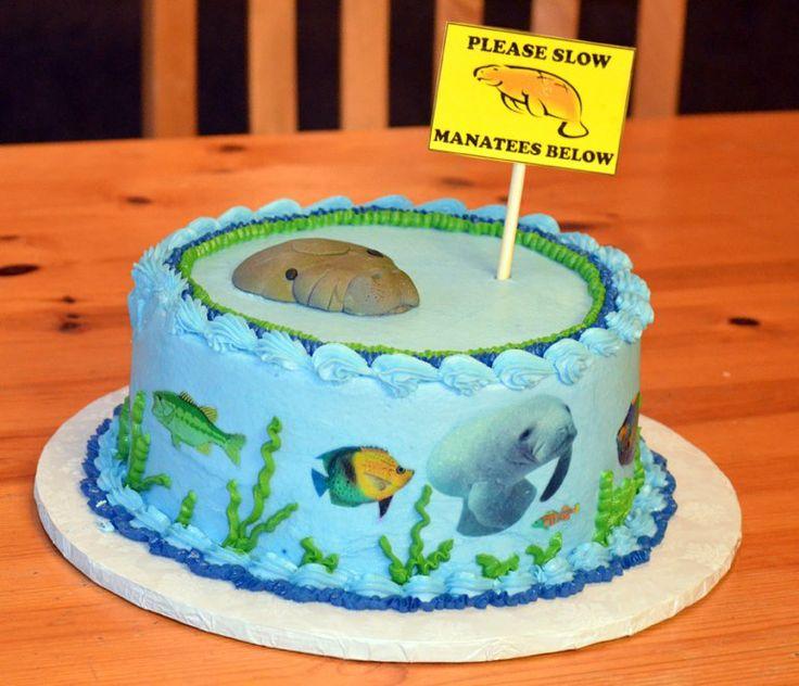 sea cakes painted cakes manatees birthday photos 7th birthday birthday ...
