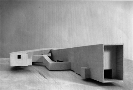 Project for a Gallery to exhibit the Guernica and Mujer Embarazada by Pablo Picasso, Álvaro Siza