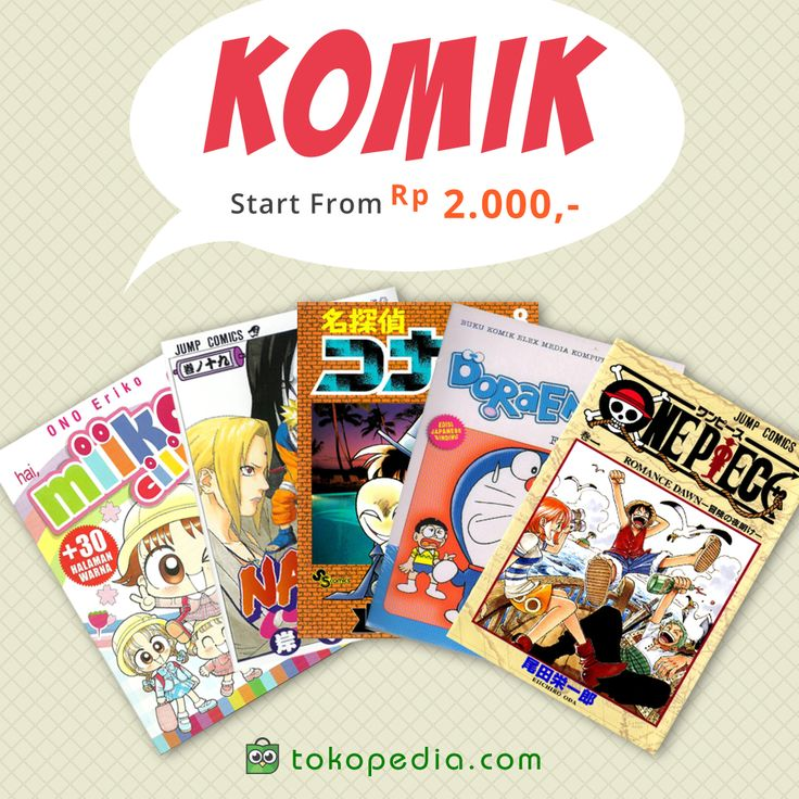 Bosan hari libur enggak ada kerjaan di rumah? Atasi rasa bosan kamu dengan membaca komik. Buruan beli beragam jenis komik ada di sini, mulai dari komik Jepang, Korea, hingga Amerika di http://www.tokopedia.com/p/buku/buku-remaja-dan-anak/komik
