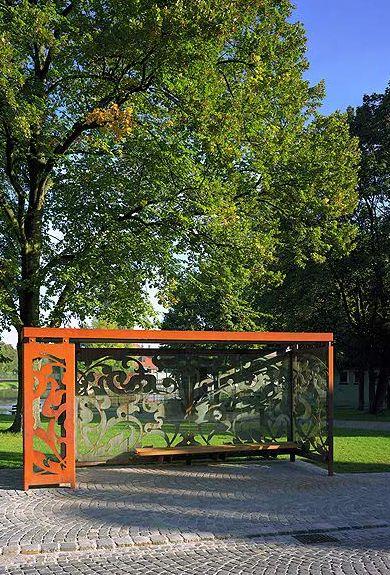 Corten Steel Bus Stop Cortenstalen bushalte