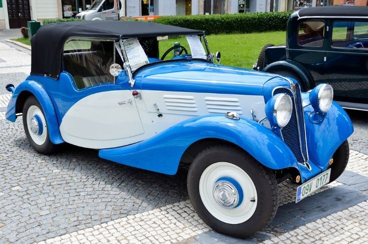 1936 Praga Baby roadster. Praga is a Prague based manufacturer.