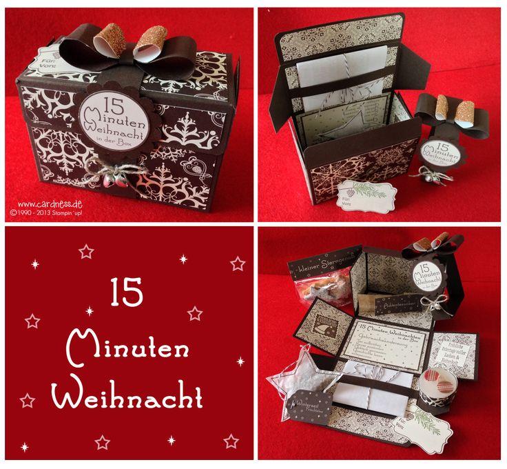 Such a cute box idea... 15 minutes of Christmas