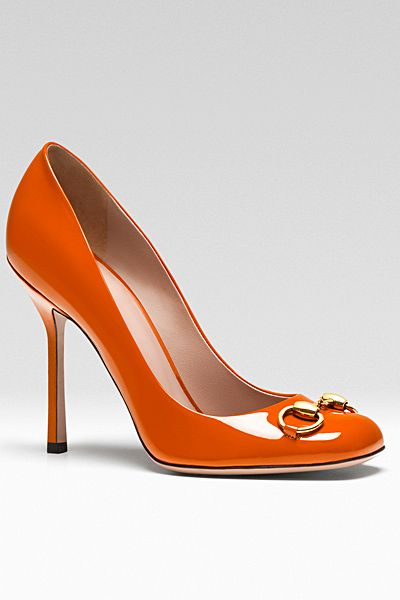 Gucci - Women's Shoes - orange high hell shoes - 2013 Pre-Fall…