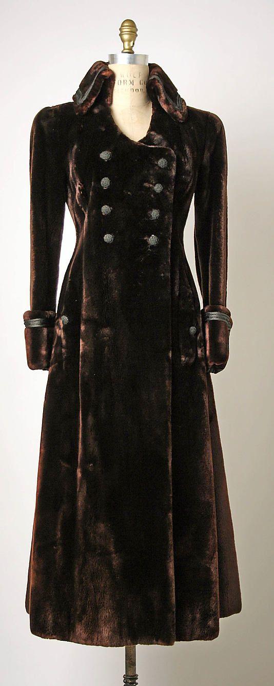 Metropolitan Museum of Modern Art, Coat (Redingote), Bergdorf Goodman, 1969 #vintage