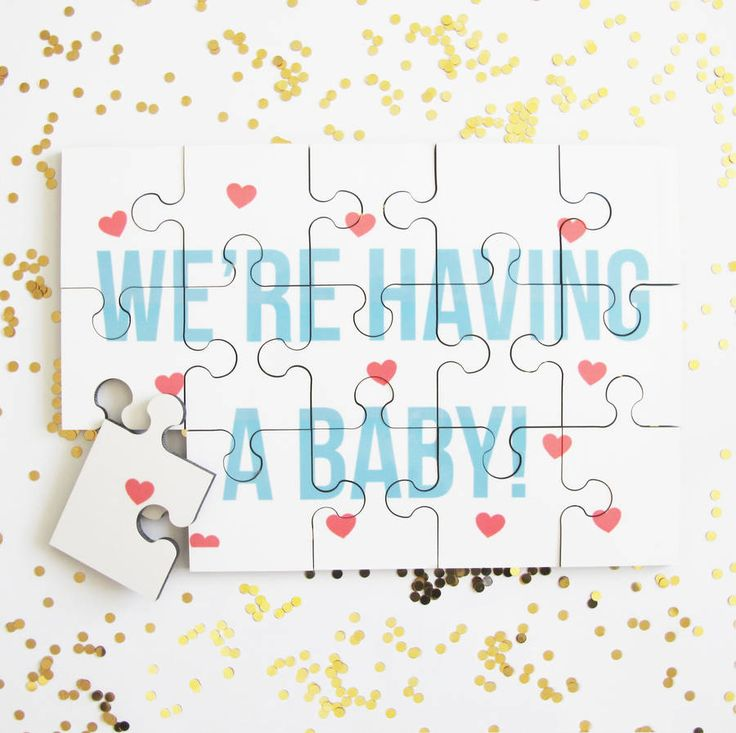 Personalised Baby Announcement Jigsaw Puzzle