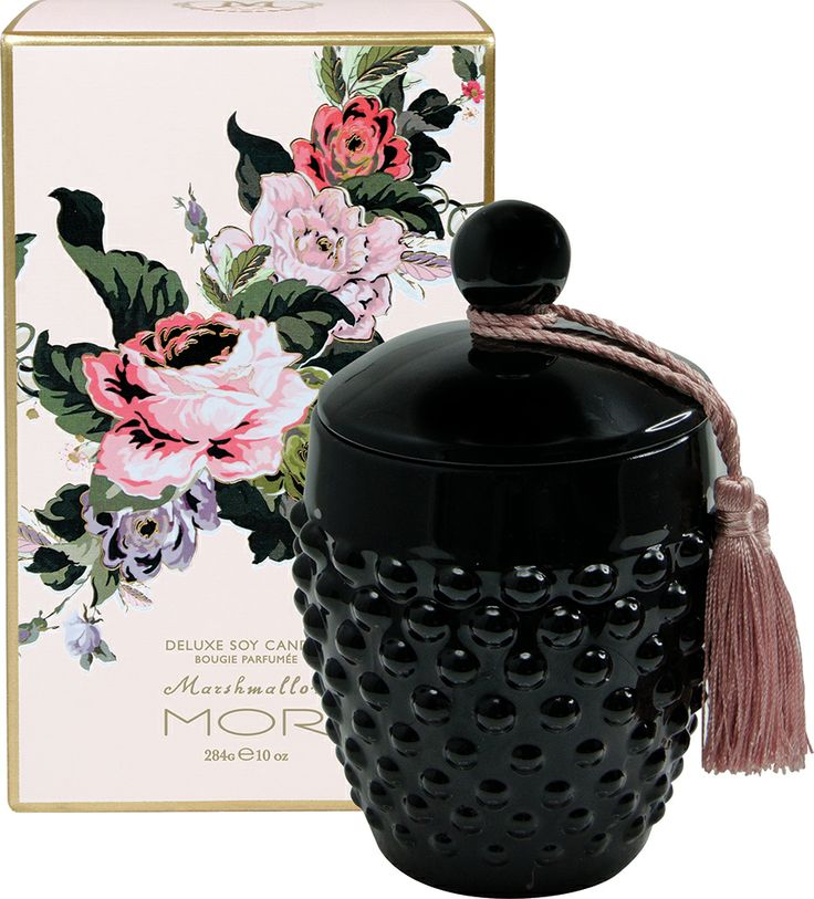 Opulent floral decadence entwined with the elegance of sweet Vanilla Musk exudes from this sleek glass hobnail vessel complete with its own tasselled snuffer. The Deluxe Soy Candle is hand poured with a Soy Wax blend and containing a 100% cotton lead-free wick, the flickering candle light and delicate scent will add a nostalgic ambience to any room.