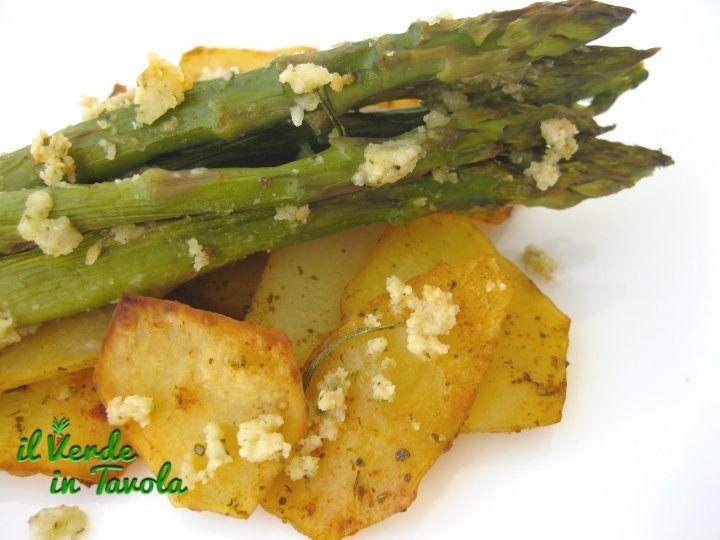 Patate e asparagi con formaggio di mandorle | Il Verde In Tavola