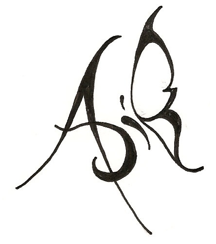 A letter tattoo designs images for Single letter tattoo designs