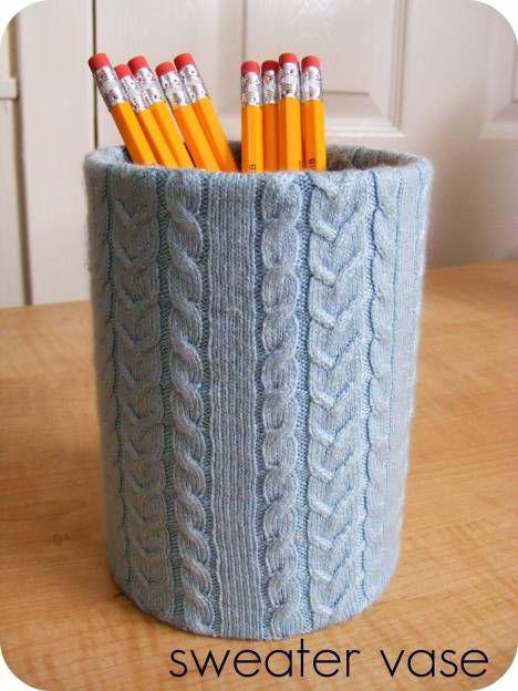 DIY: trui 'jasje' voor een vaas of pot