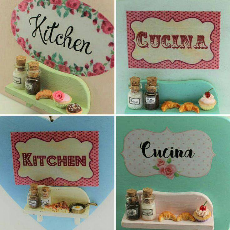 New kitchen door signs available at a special price❤ Nuove targhette per la cucina disponibili ad un prezzo speciale 💗