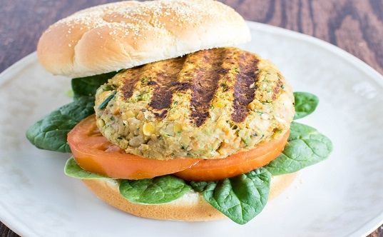 Chickpeas Zucchini Burger is a vegan and gluten free grilling option and a great father's day menu idea. It's healthy and protein packed.