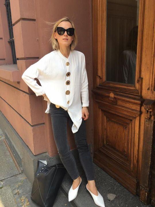 white shirt and denim
