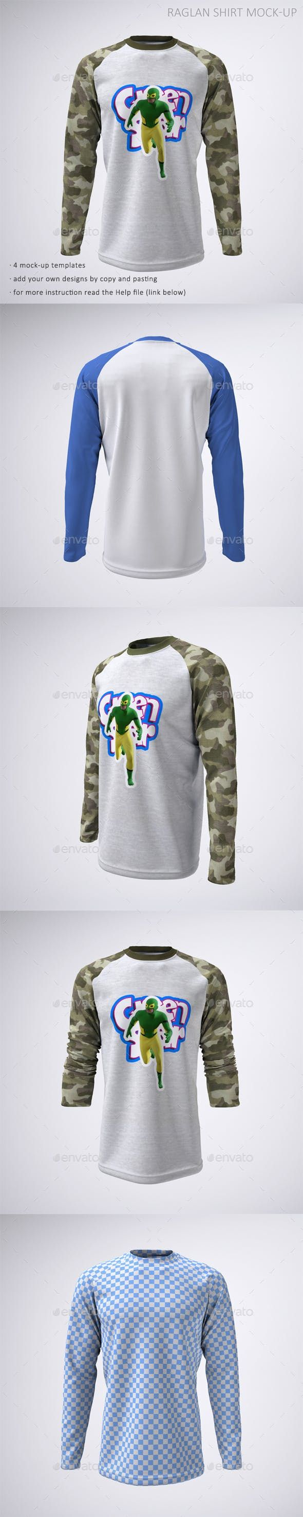 Download Long Sleeve Raglan Or Baseball T Shirt Mock Up