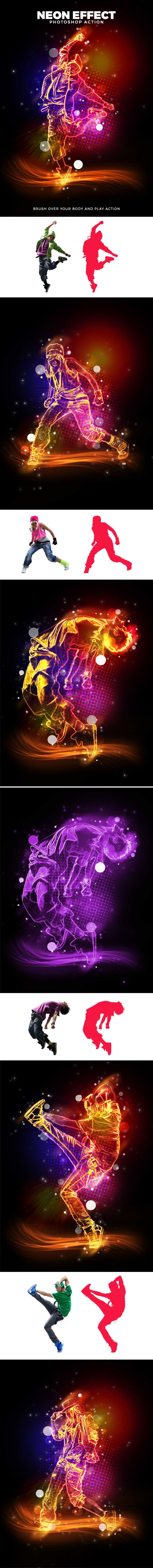 Neon Effect Action - Photo Effects Actions