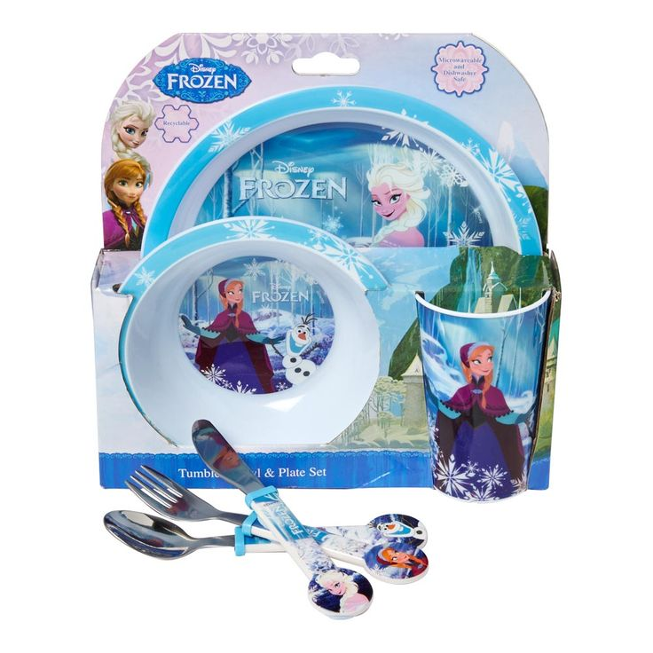 Frozen 3 piece Dining Set \u0026 Cutlery Set £15 Frozen fanatics can eat in style  sc 1 st  Pinterest & 87 best Frozen Cards Gifts and Inspiration! images on Pinterest ...