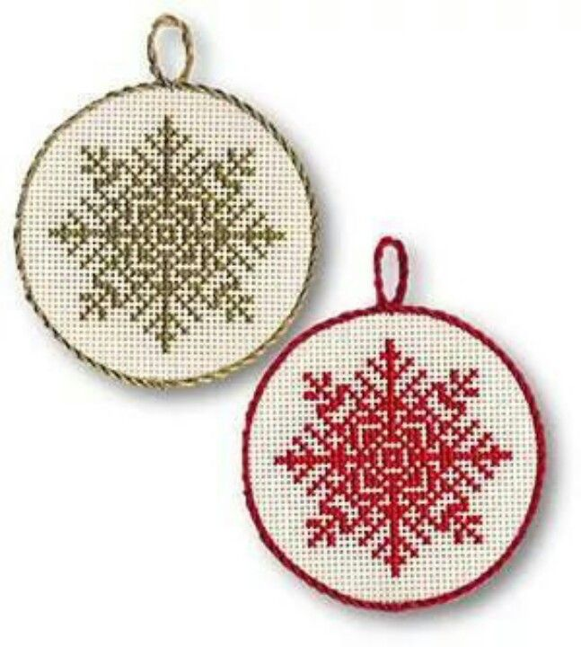 Christmas snowflake cross stitch.